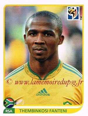2010 - Panini FIFA World Cup South Africa Stickers - N° 045 - Thembinkosi FANTENI (Afrique du Sud)