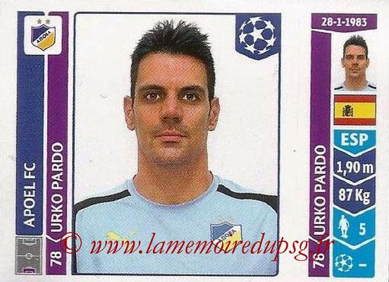 2014-15 - Panini Champions League N° 471 - Urko PARDO (Apoel FC)