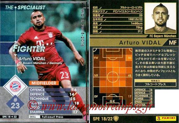 2015-16 - Panini WCCF - N° SPE18 - Arturo VIDAL (FC Bayern Munich) (The Specialist)