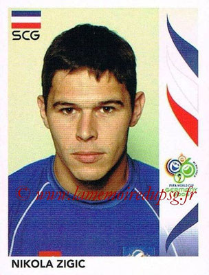 2006 - Panini FIFA World Cup Germany Stickers - N° 225 - Nikola ZIGIC (Serbie)