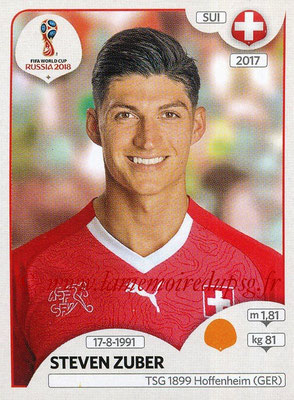2018 - Panini FIFA World Cup Russia Stickers - N° 382 - Steven ZUBER (Suisse)