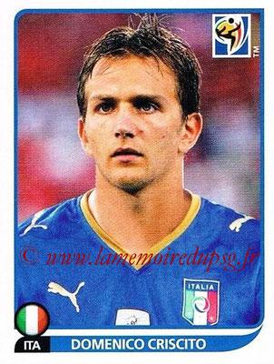 2010 - Panini FIFA World Cup South Africa Stickers - N° 418 - Domenico CRISCITO (Italie)