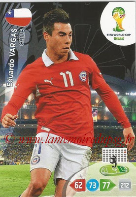 2014 - Panini FIFA World Cup Brazil Adrenalyn XL - N° 075 - Eduardo VARGAS (Chili)