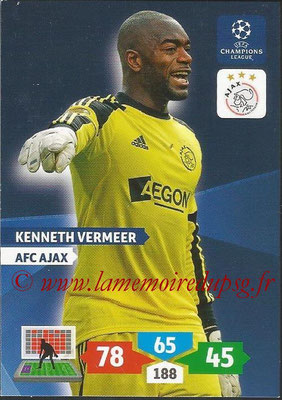 2013-14 - Adrenalyn XL champions League N° 028 - Kenneth VERMEER (AFC Ajax)