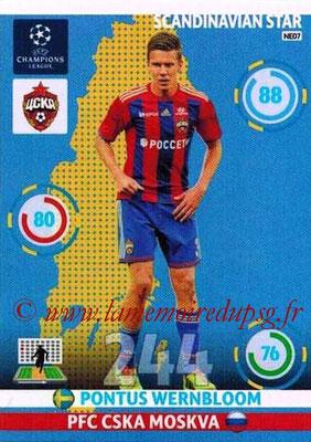 2014-15 - Adrenalyn XL champions League N° NE07 - Pontus WERNBLOOM (CSKA Moscou) (Scandinavian Star)