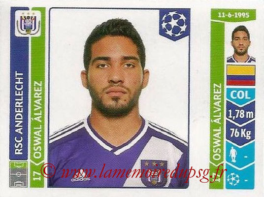 2014-15 - Panini Champions League N° 322 - Oswal ALVAREZ (RSC Anderlecht)