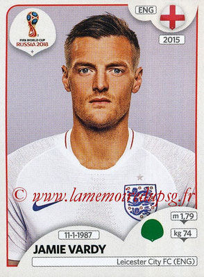 2018 - Panini FIFA World Cup Russia Stickers - N° 591 - Jamie VARDY (Angleterre)
