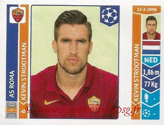 2014-15 - Panini Champions League N° 406 - Kevin STROOTMAN (AS Rome)