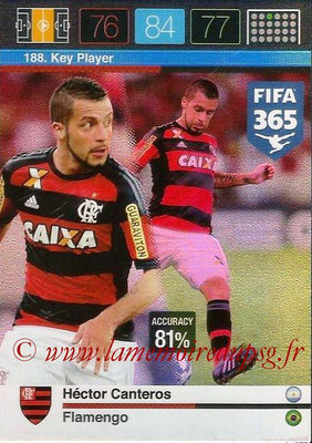 2015-16 - Panini Adrenalyn XL FIFA 365 - N° 188 - Héctor CANTEROS (Flamengo) (Key Player)