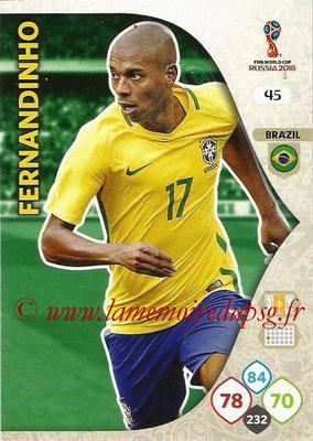 2018 - Panini FIFA World Cup Russia Adrenalyn XL - N° 045 - FERNANDINHO (Brésil)