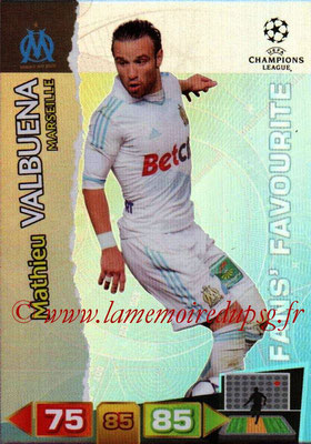 2011-12 - Panini Champions League Cards - N° 317 - Mathieu VALBUENA (Olympique de Marseille) (Fans' Favourite)