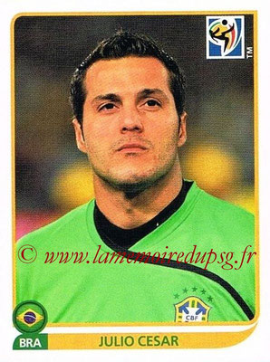 2010 - Panini FIFA World Cup South Africa Stickers - N° 488 - Julio CESAR (Brésil)