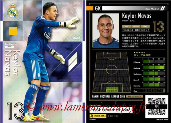 Panini Football League 2015 - PFL10 - N° 090 - Keylor NAVAS (Real Madrid) (Super GK)
