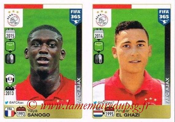 2015-16 - Panini FIFA 365 Stickers - N° 669-670 - Yaya SANOGO + Anwar EL GHAZI (AFC Ajax)