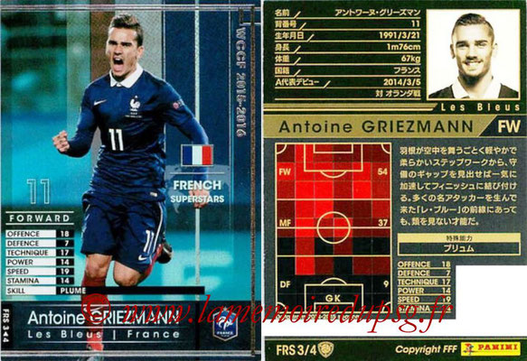 2015-16 - Panini WCCF - N° FRS3 - Antoine GRIEZMANN (France) (French Superstars)