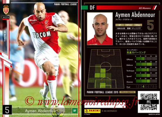 Panini Football League 2015 - PFL14 - N° 060 - Aymen ABDENNOUR (AS Monaco)