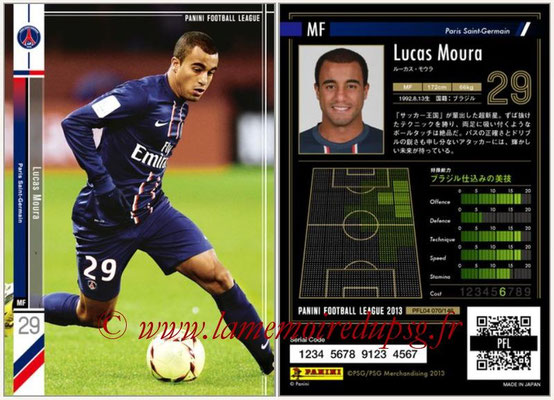 Panini Football League 2013 - PFL04 - N° 070 - Lucas MOURA (Paris Saint-Germain)