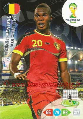 2014 - Panini FIFA World Cup Brazil Adrenalyn XL - N° 034 - Christian BENTEKE (Belgique)