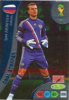 2014 - Panini FIFA World Cup Brazil Adrenalyn XL - N° 360 - Igor AKINFEEV (Russie) (Goal Stopper)
