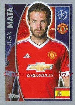 2015-16 - Topps UEFA Champions League Stickers - N° 113 - Juan MATA (Manchester United FC)