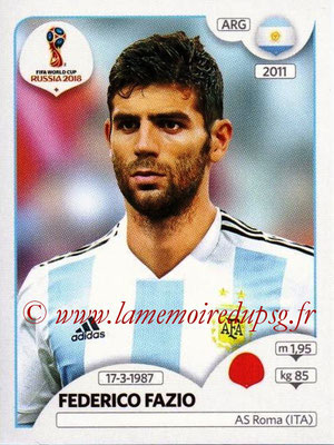2018 - Panini FIFA World Cup Russia Stickers - N° 276 - Federico FAZIO (Argentine)