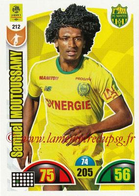 2018-19 - Panini Adrenalyn XL Ligue 1 - N° 212 - Samuel MOUTOUSSAMY (Nantes)