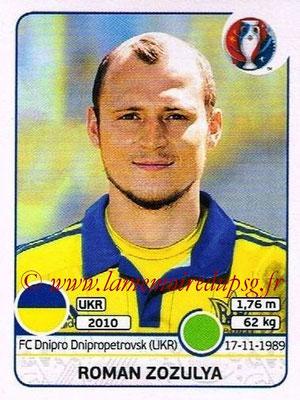 Panini Euro 2016 Stickers - N° 288 - Roman ZOZULYA (Ukraine)