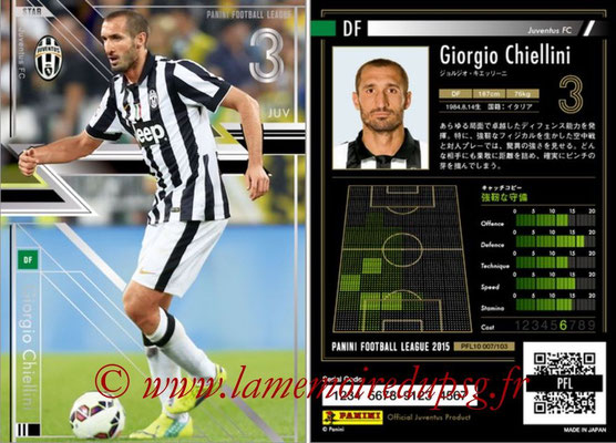 Panini Football League 2015 - PFL10 - N° 007 - Giorgio CHIELLINI (Juventus FC) (Star)