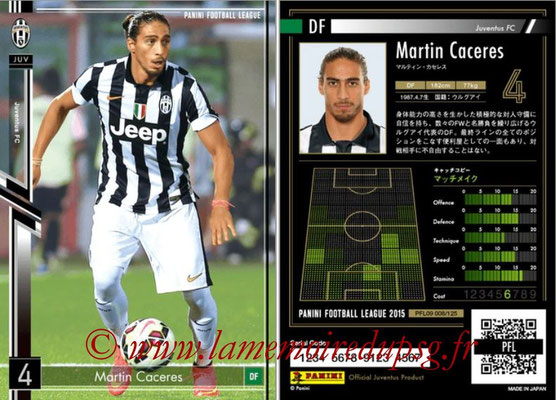 Panini Football League 2015 - PFL09 - N° 009 - Martin CACERES (Juventus Turin)