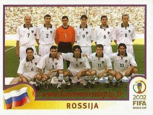 2002 - Panini FIFA World Cup Stickers - N° 524 - Equipe Russie