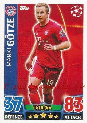 2015-16 - Topps UEFA Champions League Match Attax - N° 175 - Mario GÖTZE (FC Bayern Munich)