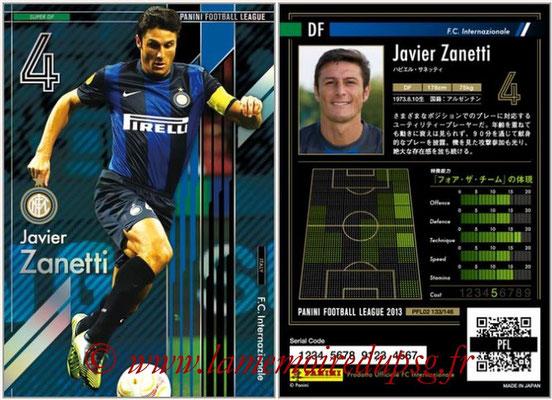 Panini Football League 2013 - PFL02 - N° 133 - Javier Zanetti ( F.C. Internazionale ) (Super DF)