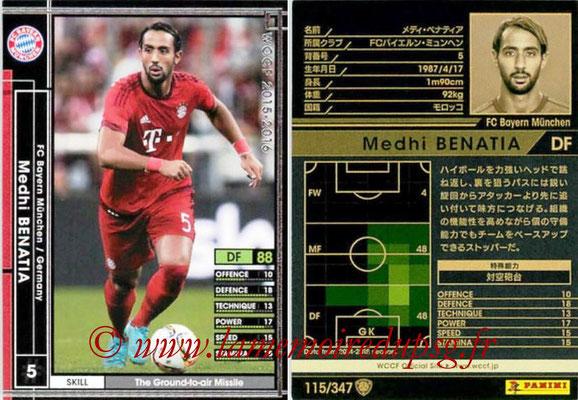 2015-16 - Panini WCCF - N° 115 - Medhi BENATIA (FC Bayern Munich)