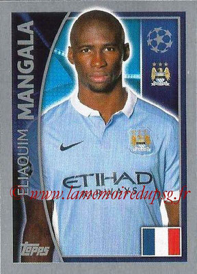 2015-16 - Topps UEFA Champions League Stickers - N° 252 - Eliaquim MANGALA (Manchester City FC)