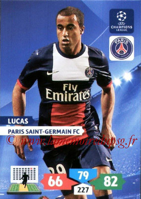 2013-14 - Adrenalyn XL champions League N° 231 - LUCAS (Paris Saint-Germain)