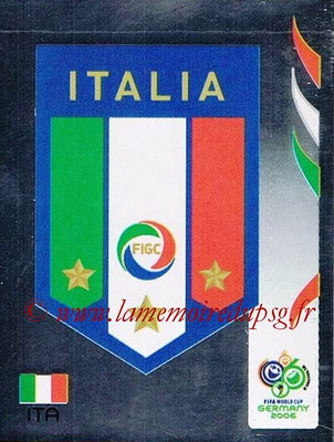 2006 - Panini FIFA World Cup Germany Stickers - N° 322 - Logo Italie