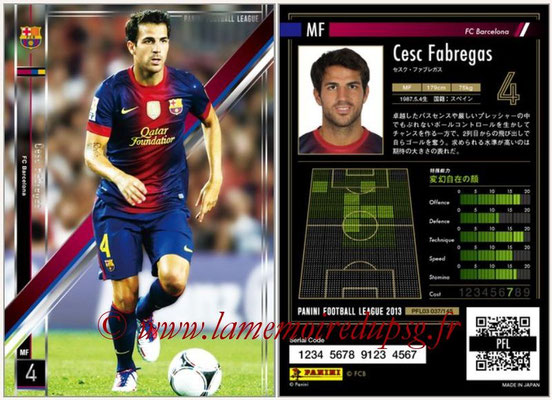 Panini Football League 2013 - PFL03 - N° 037 - Cesc Fabregas (FC Barcelone)