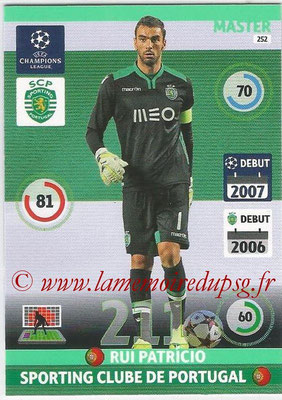 2014-15 - Adrenalyn XL champions League N° 252 - Rui PATRICIO (Sporting Club de Portugal) (Master)
