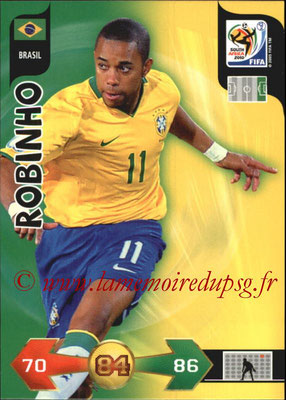 2010 - Panini FIFA World Cup South Africa Adrenalyn XL - N° 043 - ROBINHO (Bresil)