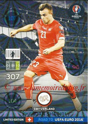 Panini Road to Euro 2016 Cards - N° LE-XS - Xherdan SHAQIRI (Suisse) (Limited Edition)