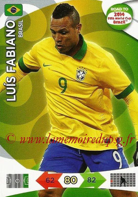 2014 - Panini Road to FIFA World Cup Brazil Adrenalyn XL - N° 026 - Luis FABIANO (Brésil)