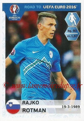 Panini Road to Euro 2016 Stickers - N° 294 - Rajko ROTMAN (Slovénie)