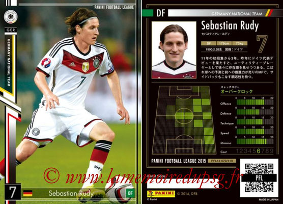 Panini Football League 2015 - PFL14 - N° 079 - Sebastian RUDY (Allemagne)