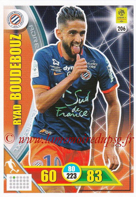 2017-18 - Panini Adrenalyn XL Ligue 1 - N° 206 - Ryad BOUDEBOUZ (Montpellier)