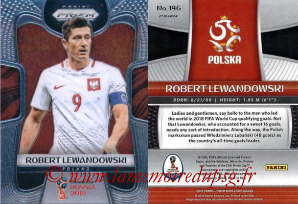 2018 - Panini Prizm FIFA World Cup Russia - N° 146 - Robert LEWANDOWSKI (Pologne)