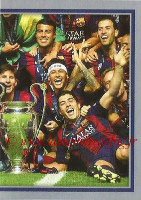 2015-16 - Topps UEFA Champions League Stickers - N° 610 - FC Barcelona 2014-15 (puzzle 2) (UEFA Champions League Winners)