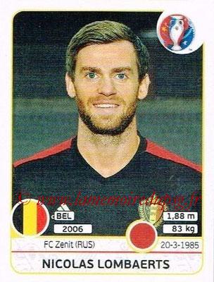 Panini Euro 2016 Stickers - N° 470 - Nicolas LOMBAERTS (Belgique)