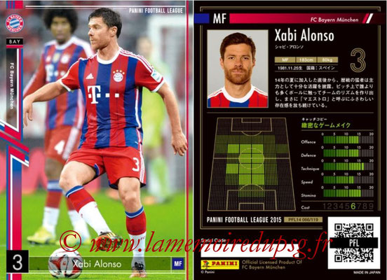 Panini Football League 2015 - PFL14 - N° 066 - Xabi ALONSO (FC Bayern Munich)