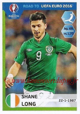 Panini Road to Euro 2016 Stickers - N° 158 - Shane LONG (Eire)