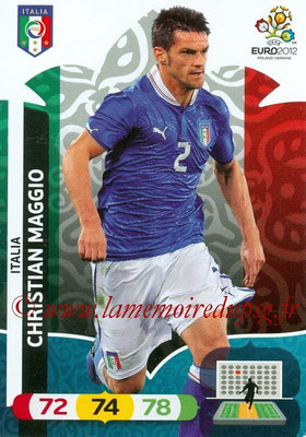 Panini Euro 2012 Cards Adrenalyn XL - N° 122 - Christian MAGGIO (Italie)